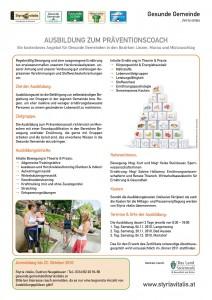 Ausbildung zum Präventiopnscoach für die Gesunde Gemeinde Mariahof